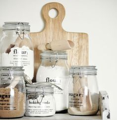 YESSS - pretty mason jar labels (for whenever I get my open shelves up)