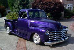 Purple Pickup Truck