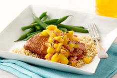Mango Orange Chicken - Diabetes Food Choices: 2 Carbohydrates + 3 Meat & Alternatives + 1 Fats