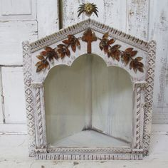 French Santos wall cabinet display hand by AnitaSperoDesign, $225.00