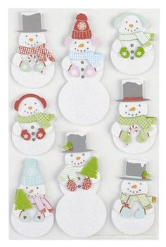 Really like the Martha Stewart Crafts 3-D snowman stickers. We write names right on them and use them as gift tags (that the kids always save afterward).