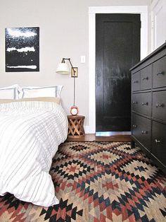 kilim in the bedroom