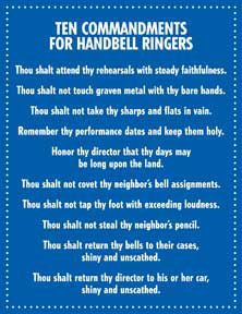 funny...10 commandments for bell ringers.