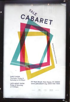 Poster for the Yale Cabaret