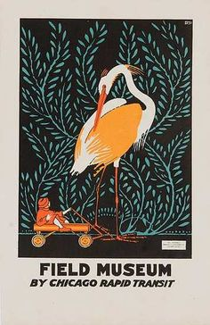 Cool vintage poster for the Field Museum - Chicago