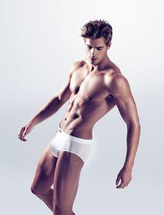 French model Giovanni Bonamy for bodywear label Ceceba