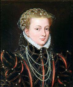 CLOUET François - French (Tours circa 1515-1572 Paris) - Portrait of Margaret Duchess of Parma, Regent of the Netherlands c.1559/67