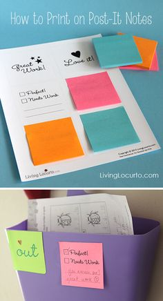 How to Print on Post-It Notes with Cute Free Printables for School Homework