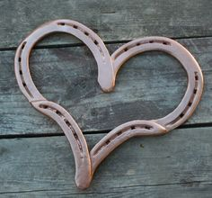 Horseshoe Heart by GarysCustomMetalwork on Etsy, $30.00