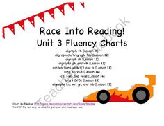 Fluency Charts Journeys� Unit 3 First Grade from First Grade Magic on TeachersNotebook.com -  (10 pages)  - Includes 9 different fluency charts including digraphs, long vowels, and contractions.