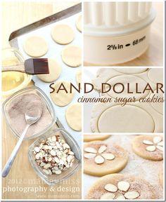 Sand Dollar Cinnamon Sugar Cookies {mama♥miss}