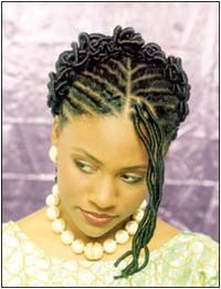 African American Wedding Hairstyles & Hairdos: Silky Twists & Knots