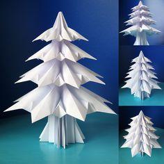 How to make origami Christmas trees