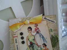 Vintage Vogue Card  Sewingthemed Card  Card for by AvantCarde, $7.30