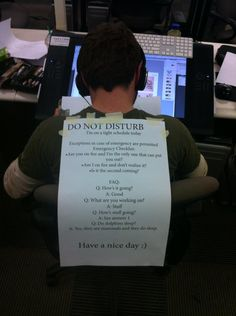 Great do not disturb status message - Boing Boing colleges, laugh, schools, offices, the office, funni, finals week, door, disturb