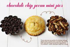 How to make Mini Chocolate Chip Pecan Pies!