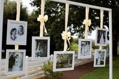 A really cool wedding decoration - showing the generations of each person !  LOVE