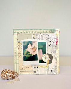 Crate mini album page