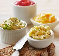Butter, Raspberry Honey Butter, Hot Pepper Honey Butter, & Lemon Herb ...