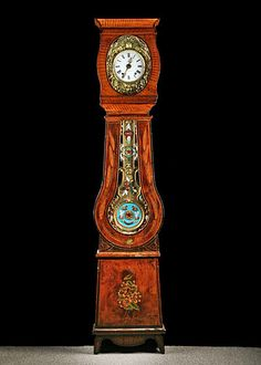 antique French grandfather clock