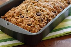 Low fat chocolate chip zucchini bread. Servings: 16 • Serving Size: 1 slice • Old Points: 3 pts • Points+: 4 pts Calories: 147.5 • Fat: 4.1 g • Protein: 2.2 g • Carb: 29.9 g • Fiber: 1.7 g Sugar: 17 g Sodium: 186.5 mg