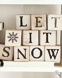 Let It Snow Christmas Blocks