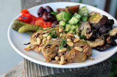 Crock pot chicken musakhan ~ Stuff I Make My Husband