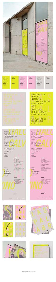 Las Palabras Pintadas by Lucia Izco by Lucía Izco, via Behance graphic design, identifi design