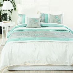 The Abigail Turquoise 6 Piece Quilt Cover Pack is a great way to complete the look of your bed with one easy pack. - #PillowTalkHome