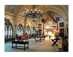 Haunted Belcourt Castle in Newport,  The gothic, haunted ballroom.
