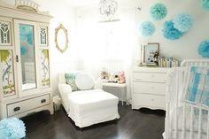 baby boy rooms, blue, white walls, girl nurseries, girl bedrooms, babies nursery, baby girls, white furniture, babies rooms