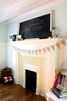 Homemade mantel (from The Twice Remembered Cottage)