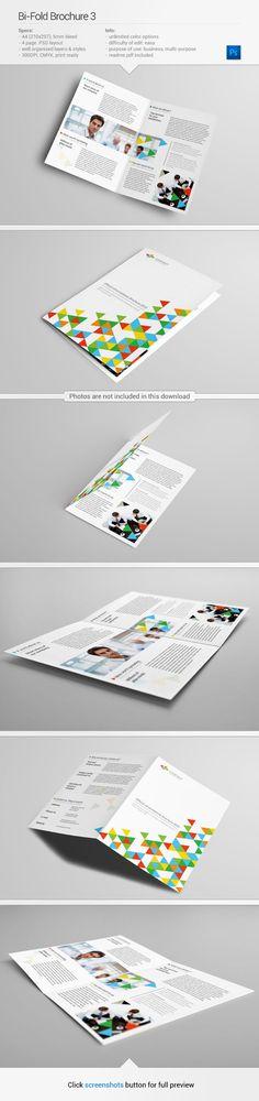 Brochure #template | Find out more on my Behance - http://www.behance.net/gallery/Bi-Fold-Brochure-3/10639185