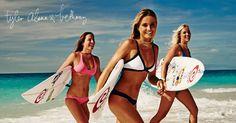 Tyler, Alana & Bethany wearing their favorite Rip Curl bikinis.
