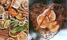 Palju erinevaid kaunistusi apelsinidest