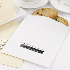 Paper Favor Bags - White   Zuriana's Elegant Occasions