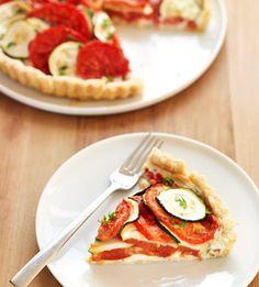 Tomato-Zucchini Tart #myplate #veggies #summer