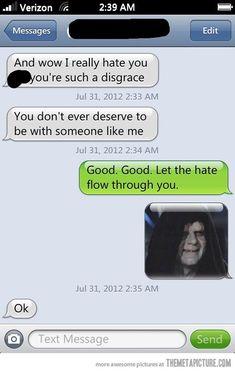Arguing with my ex-girlfriend… laugh, stars, starwar, funni, hilari, girlfriend, star wars, dark side, humor