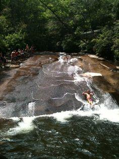 Sliding Rock, NC....Soooooo cold!!!