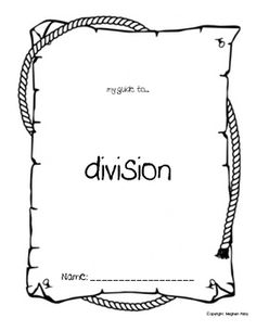 Here is a nice packet of materials for helping students learn about division.
