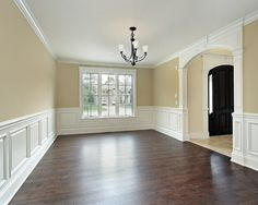 Pictures of Dining Rooms with Wainscoting for Inspiration: Pictures Of Dining Rooms With Wainscoting And Arch Entryway In Traditional Dining Room Using Hang Down Light And Hardwood Flooring ~ spoond.com Decorating Inspiration dining rooms, idea, living rooms, dine room, floor, color, wainscoting, hous, dining room design