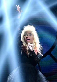 Recording artist Nicki Minaj performs onstage during the 2012 BET Awards at The Shrine Auditorium on July 1, 2012 in Los Angeles, California.