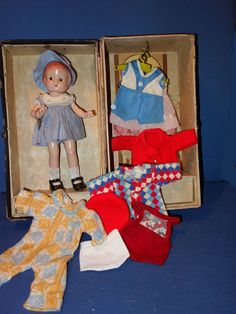 All Original Effanbee Patsyette Doll with trunk filled with her clothing