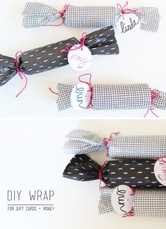 How to wrap gift cards