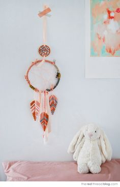 Dream Catcher with #hama #perler bead feathers--love it!