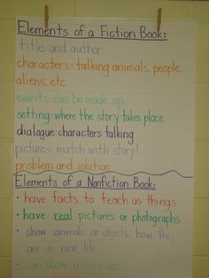 Elements of fiction and non fiction