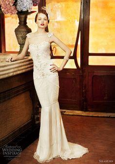 Gorgeous vintage inspired YolanCris wedding gown #Wedding #Dress #Gown #Bridal #Bride #Vintage #Inspired