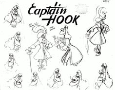 sketch, hook model, cartoon charact, hooks, 3d cartoon, captain hook, captain cartoon, disney peter, peter pan