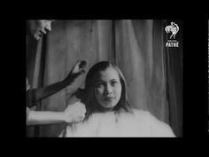 British Pathé newsreel of Carmen England,hairdresserat the British Colonies Club, straightening (hot combing/pressing) a woman's hair which is then styled in a typical 1940's fashion. British Colonies Club, St Martin's Place, London. 1948