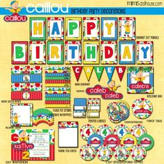 Caillou Party Printables #Caillou #CaillouParty #BirthdayParty